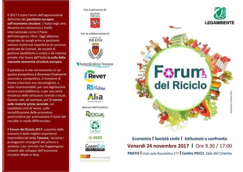 FORUM DEL RICICLO PRATO 24 NOVEMBRE 2017